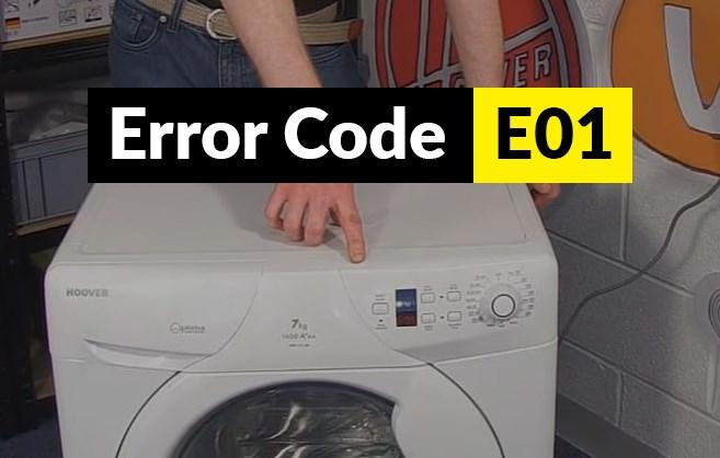 Código de error E01 Código de error E01 lavadora Candy y Hoover