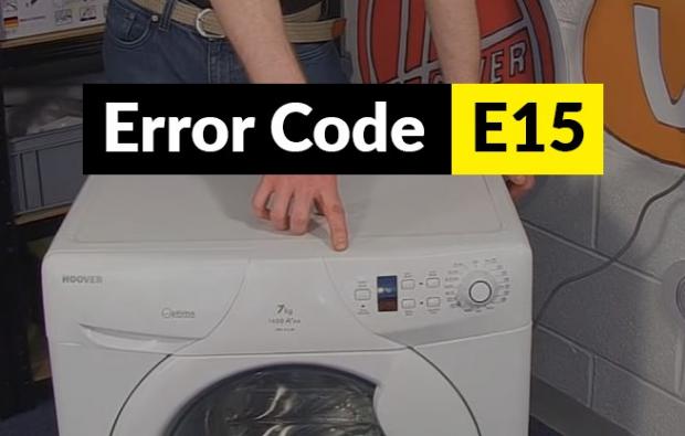 Código de error E15 Código de error E15 lavadora Candy y Hoover