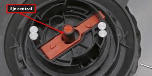 Eje central Cómo cambiar la bobina de hilo en un cortabordes Flymo