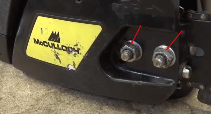 remove the nuts Cómo cambiar la cadena de una motosierra